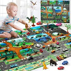 Redpol Kids Map Taffic Animal Play Mat Baby Road Carpet Home Decor Educational Toy Baby Gyms &am ...
