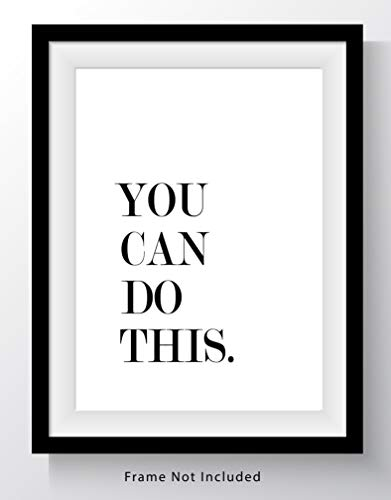 You Can Do This Motivational Word Wall Art Print – 11×14 UNFRAMED Print – Great ...