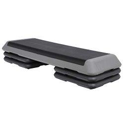 F2C 43″ x 16″ Fitness Aerobic Step Platform 4″ – 6″ – 8̸ ...