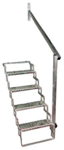 CR Brophy Machine Works AHR4 Scissor Step Hand Rail with 4 Step