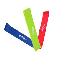 TADAMI 3Pcs Resistance Band Loop Yoga Pilates Home Gym Fitness Exercise Workout Training for Pil ...