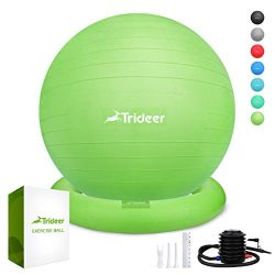 Trideer Ball Chair – Exercise Stability Yoga Ball with Base for Home and Office Desk, Ball ...