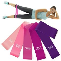 Larnn Resistance Loop Bands Set of 5 Fitness Bands Perfect for Legs and Butt Yoga Crossfit Stren ...