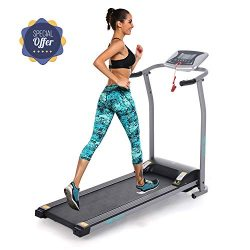 Folding Electric Treadmill Incline Motorized Running Machine Smartphone APP Control for Home Gym ...