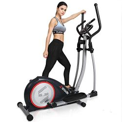 SNODE Elliptical Machine Trainer, Magnetic Elliptical Exercise Training Machine with Cross Crank ...