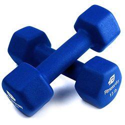Fitness Alley 13lb Neoprene Dumbbell Set Coated for Non Slip Grip – Hex Dumbbells Weight S ...