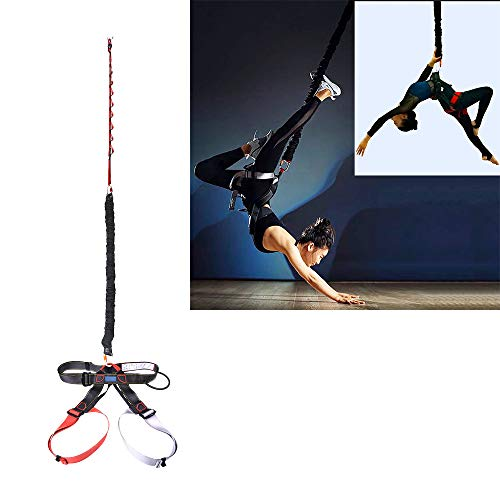 DASKING Heavy Bungee Cord Resistance Belt for Home Gym Yoga Bungee Rope Gravity Bungee 4D Traini ...