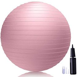 LAKIBOLE 75cm Exercise Ball Anti-Burst Yoga Ball with Quick Pump for Office & Home & Gym ...