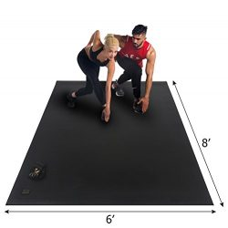 Gxmmat Extra Large Exercise Mat 6'x8'x7mm for Home Gym Flooring, Ultra Durable Cardi ...