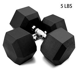 Fine Dumbbells, Deluxe Vinyl Coated Hand Weights All-Purpose Color Coded Dumbbell for Strength T ...