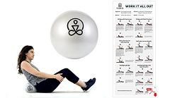 Mini Core Exercise Ball- Pilates, Physical Therapy, Barre, Yoga – Includes eBook and Trave ...