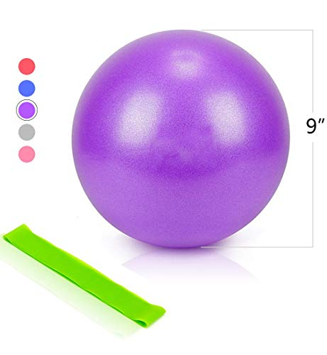 NOE REITON Mini Exercise Ball for Yoga,Home Fitness,Stability,Barre,Pilates,Core Training and Ph ...