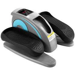 ANCHEER Desk Elliptical with Built in Display Monitor, Quiet & Compact, Electric Elliptical  ...