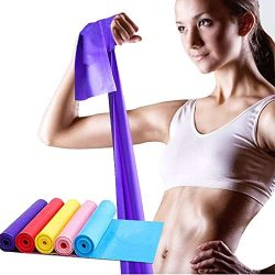 Exrebon Exercise Band, Resistance Bands, Sport Yoga Elastic Bands Natural Latex Elastic Exercise ...