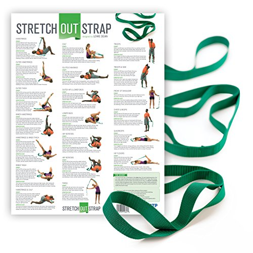 OPTP The Original Stretch Out Strap with Exercise Poster Top Choice of Physical Therapists & ...
