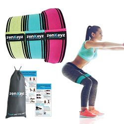 New Fabric Booty Resistance Hip Bands for Workout – Resistance Loop Bands – 3 Glute  ...