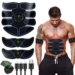 Abs Stimulator Ultimate Muscle Toner, EMS Abdominal Toning Belt for Men and Women, Arm and Leg T ...