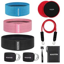 Kootek 10 Pieces Resistance Loop Bands Set – Workout Bands for Leg and Butt Training High  ...