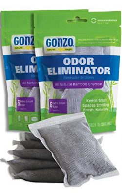 Gonzo Bamboo Charcoal (12 Extra Small Bags 10 Grams) Air Purifying Bags Odor Eliminator for Home ...