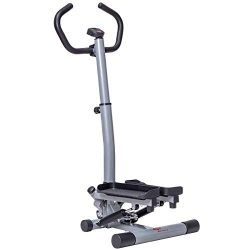 GYMAX Step Machine, 2 in 1 Twister Stepper Stair Climber with LCD Display and Handle Bar, for Fi ...