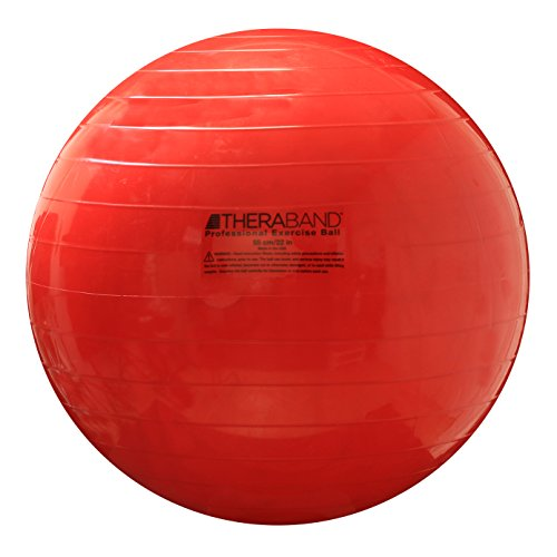 TheraBand Exercise Ball, Stability Ball with 55 cm Diameter for Athletes 5'1″ to 5&# ...