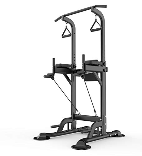 UBOWAY Heavy Duty Power Tower – Home Gym Adjustable Multi-Function Fitness Strength Traini ...