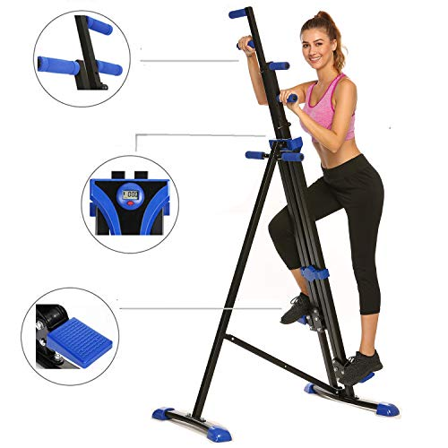 Hurbo Vertical Climber Home Gym Exercise Folding Climbing Machine Exercise Bike for Home Body Tr ...
