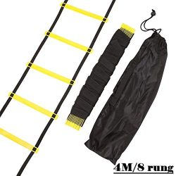 S-Sport-Life – Durable 9 rung 16.5 Feet 5M Agility Ladder for Soccer and Football Speed Tr ...