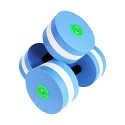 CapsA 1 Pair Aquatic Exercise Dumbbells Foam Dumbbells Hand Bar Pool Exercise Detachable Water A ...