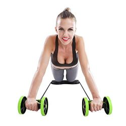 KAZOLEN Double Ab Roller Wheel Home Gym Equipment Work Out Core Abdominal Exercise Fitness Trainer