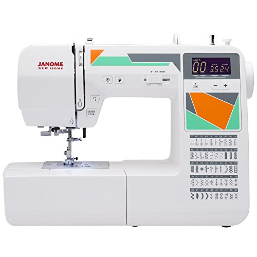 Janome MOD-50 Computerized Sewing Machine with 50 Built-in Stitches, 3 One-Step Buttonholes, Dro ...