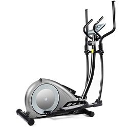 GOPLUS Elliptical Machine, Portable Magnetic Elliptical Trainer Cardio Fitness Workout Machine S ...