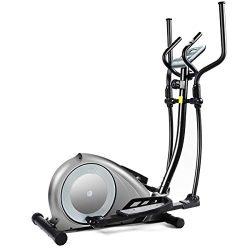 GOPLUS Elliptical Machine, Portable Magnetic Elliptical Trainer Cardio Fitness Workout Machine S ...