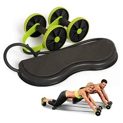 Demoyaya Multifunction Abdominal Trainer Wheel Arm Waist Leg Exercise Fitness Sport Pull Rope He ...