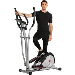 Fast 88 Portable Elliptical Machine Fitness Workout Cardio Training Machine, Magnetic Control Mu ...