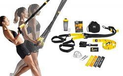 TRX All In One Home Gym Bundle: Includes All-In-One Suspension Trainer, Indoor & Outdoor Anc ...