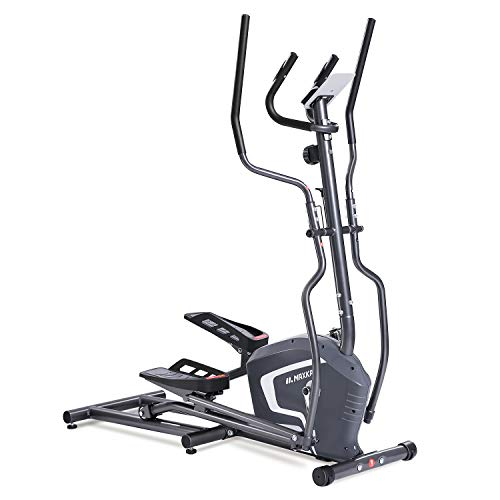 MaxKare Magnetic Elliptical Machine Trainer Smooth Quiet Driven with Front Flywheel/LCD Monitor/ ...
