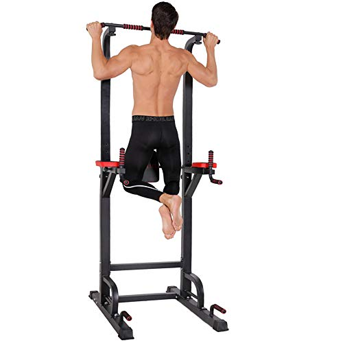 Power Tower – Home Gym Adjustable Multi-Function Fitness Strength Training Equipment Stand ...