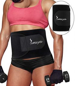 SIMIYA Waist Trimmer for Women & Men, Neoprene Sauna Slim Belt, Abdominal Trainer, Stomach W ...
