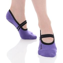 Great Soles Ballet Grip Sock (Violet/Black, Cotton)