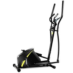 GOPLUS Portable Elliptical Machine, Magnetic Trainer with Digital Monitor Display & Pulse Ra ...