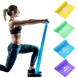 SKL Resistance Bands Set of 4 Exercise Band Non Latex Long Elastic Band for Upper & Lower Bo ...