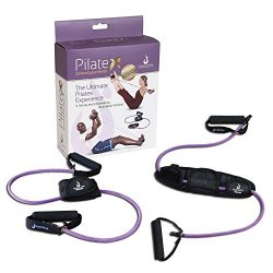 HolisticFit Resistance Band with Foot Support – Exercise Band with Cushioned Handles for E ...