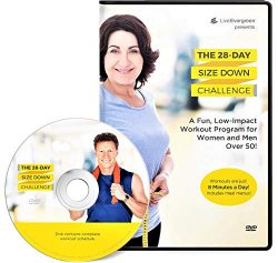 The 28 Day Size Down Challenge Workout DVD for Beginners and Seniors – Full Body, Low Impa ...