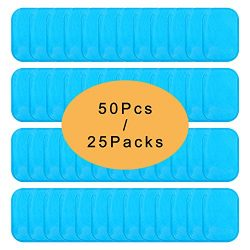 UYGHHK 50 Pcs/25 Pack Gel Pads for Abs Stimulator Abs Replacement Gel Pads Abs Trainer Replaceme ...