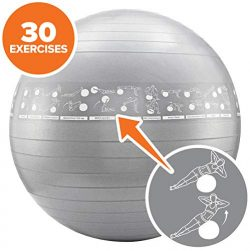 NewMe Fitness Exercise Ball with Exercises (65cm)