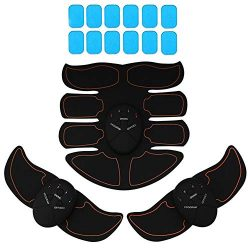 KINGSOO Abdominal Muscle Toner, 8 Pack Abdominal Trainer Free with 12 Gel Pads – Smart Fit ...
