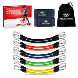 SMASH SPEED Speed and Agility Leg Resistance Bands – with Training Exercise Guide –  ...