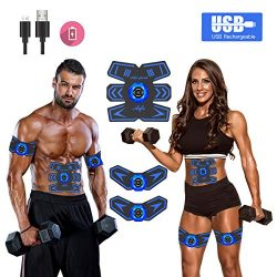 Abs StimulatorAb StimulatorMuscle Toner Rechargeable Muscle Trainer Ultimate Abs Stimulator fo ...