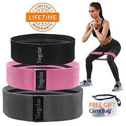 Resistance Exercise Bands for Legs and Butt, Workout Booty Bands Wide Elastic Loop Thick Cloth T ...